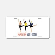 Barre All Excuses Aluminum License Plate