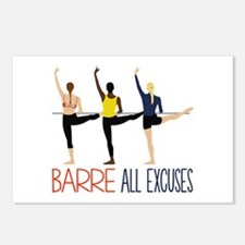Barre All Excuses Postcards (Package of 8)