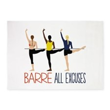 Barre All Excuses 5'x7'Area Rug