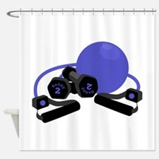 Exercise Equipment Shower Curtain