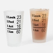 I Am 60 Drinking Glass