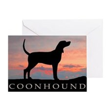 Sunset Coonhound Greeting Card