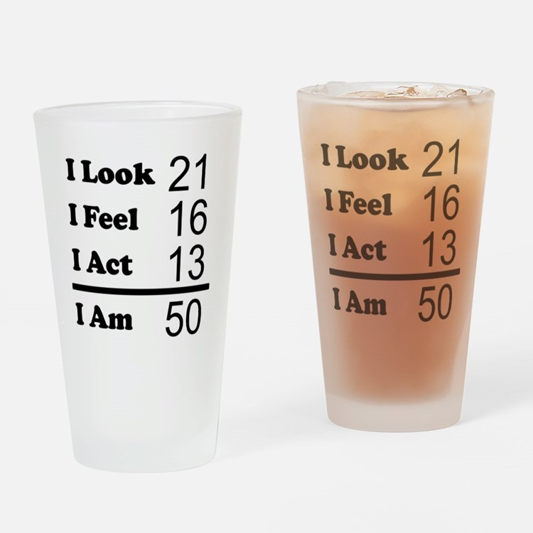 I Am 50 Drinking Glass