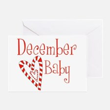 December Baby Greeting Card