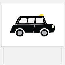 Black Taxi Yard Sign