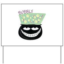 Bubbly Cauldron Yard Sign