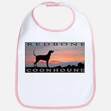 Redbone Coonhound Sunset Bib