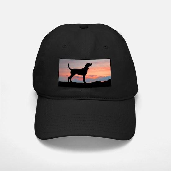 Redbone Coonhound Sunset Baseball Hat
