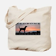 Redbone Coonhound Sunset Tote Bag