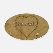 Hannah Beach Love Oval Car Magnet