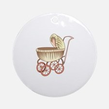 OLD BABY CARRIAGE Ornament (Round)