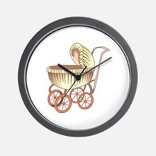 OLD BABY CARRIAGE Wall Clock