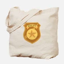 Bailiff Badge Tote Bag