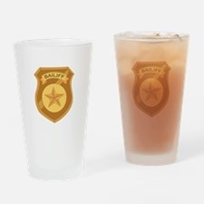 Bailiff Badge Drinking Glass