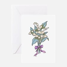 WINTER SNOWBELL FLOWERS Greeting Cards