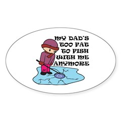 Fishing Humor Oval Decal