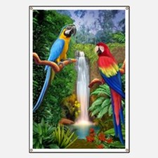 MaCaw Tropical Parrots Banner