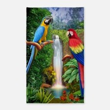 MaCaw Tropical Parrots Area Rug