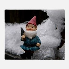 Funny Silver snow Throw Blanket