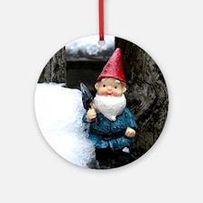 Cute Gnome christmas Round Ornament