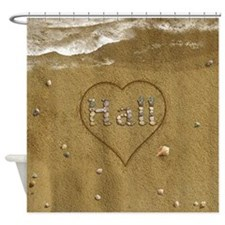 Hall Beach Love Shower Curtain
