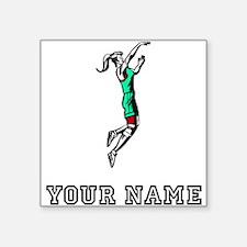 Girl Basketball Player Sticker