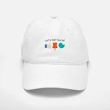 Let's Get Social Baseball Baseball Baseball Cap