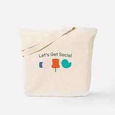Let's Get Social Tote Bag