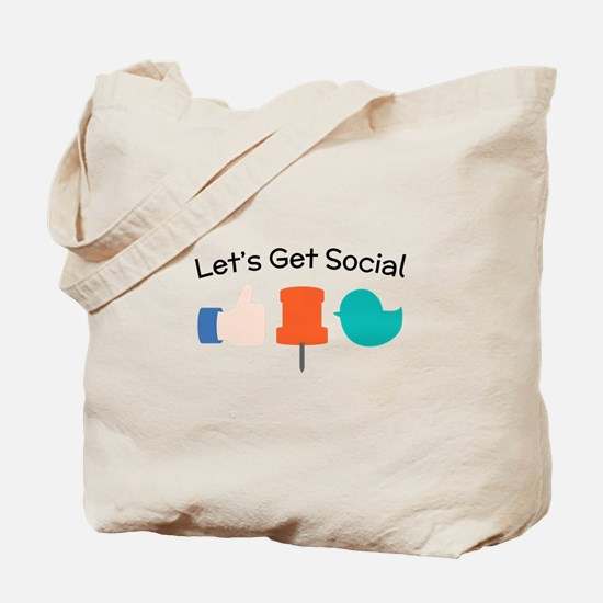 Let's Get Social Tote Bag