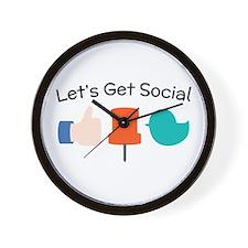 Let's Get Social Wall Clock