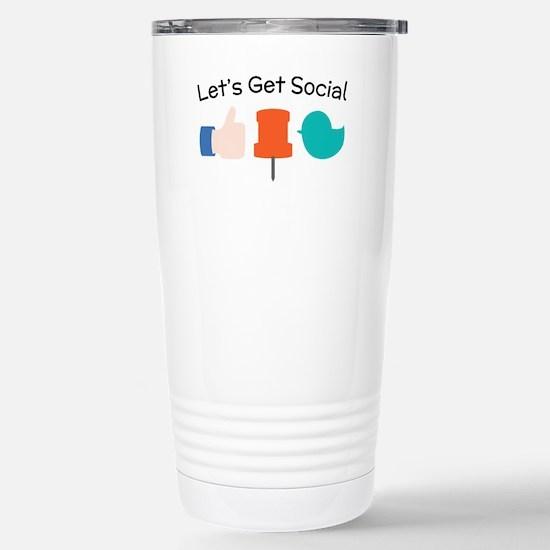 Let's Get Social Travel Mug