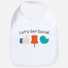 Let's Get Social Bib