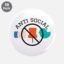 "Anti Social 3.5"" Button (10 pack)"