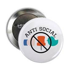 "Anti Social 2.25"" Button (10 pack)"