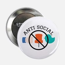 "Anti Social 2.25"" Button (10 pack)"