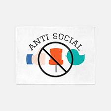 Anti Social 5'x7'Area Rug