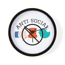 Anti Social Wall Clock