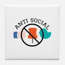 Anti Social Tile Coaster