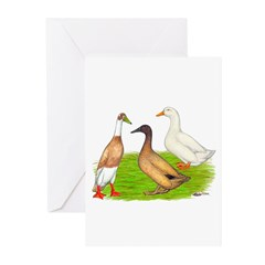 Egg and Meat Ducks Greeting Cards (Pk of 10)