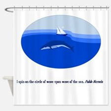 Circle of the Sea Shower Curtain