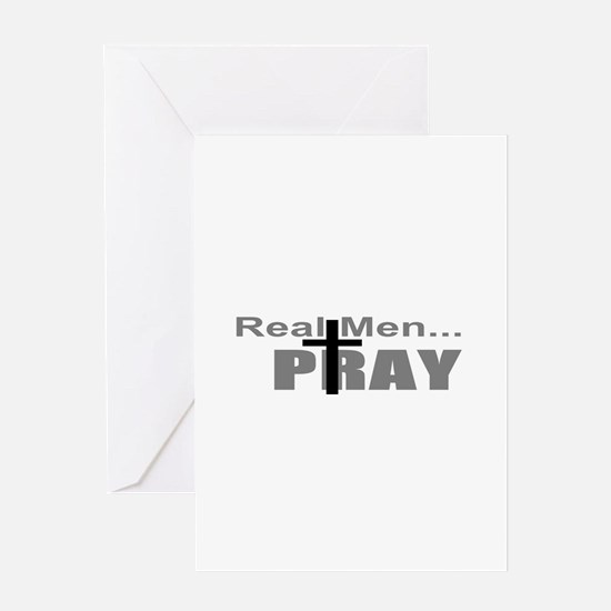Real Men Pray Greeting Card