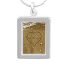 Hailee Beach Love Silver Portrait Necklace
