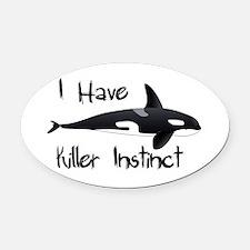 Killer Instinct Oval Car Magnet