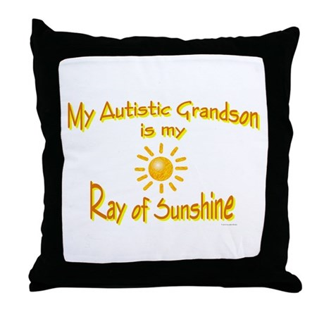 Ray Of Sunshine (Grandson) Throw Pillow