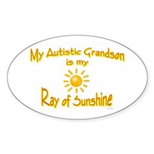 Ray Of Sunshine (Grandson) Oval Decal