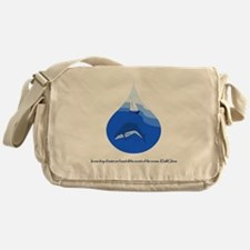 One Drop of Water Messenger Bag