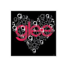 "Glee Heart Square Sticker 3"" x 3"""