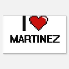 I Love Martinez Decal