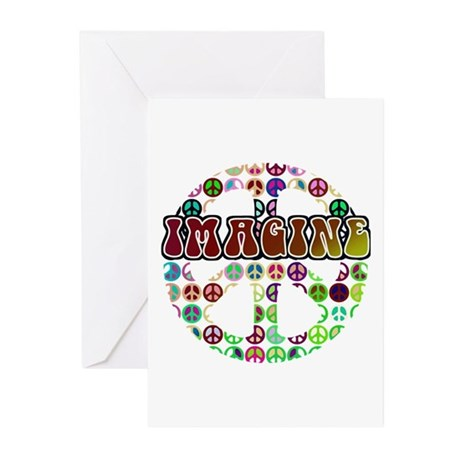 Peace Sign - World Peace Greeting Cards (Pk of 10)