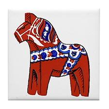 The Swedish Horse Tile Coaster